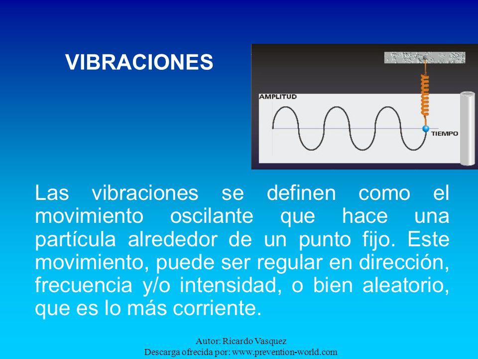 Autor: Ricardo Vasquez Descarga ofrecida por: www.prevention-world.com VIBRACIONES Las vibraciones se definen como el movimiento oscilante que hace un