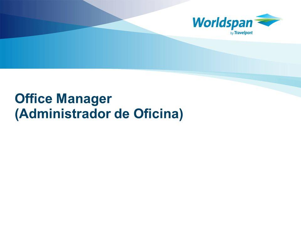 2 Objetivo Este curso está diseñado para los agentes de viajes que son los encargados de administrar los recursos del sistema en la oficina.