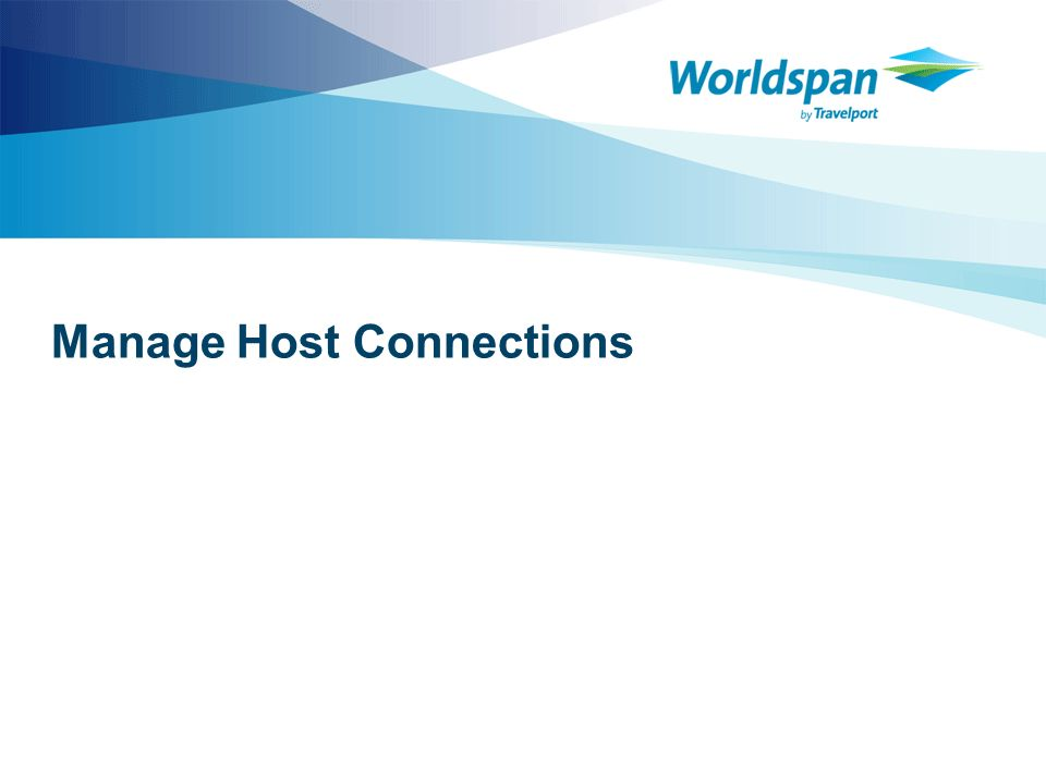 Manage Host Connections