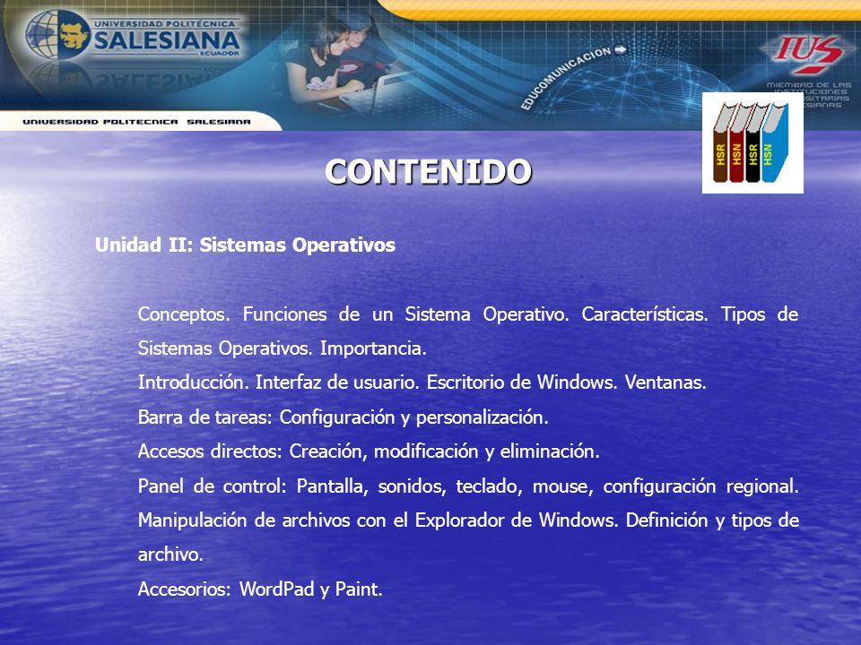 Unidad II: Sistemas Operativos Conceptos. Funciones de un Sistema Operativo. Características. Tipos de Sistemas Operativos. Importancia. Introducción.
