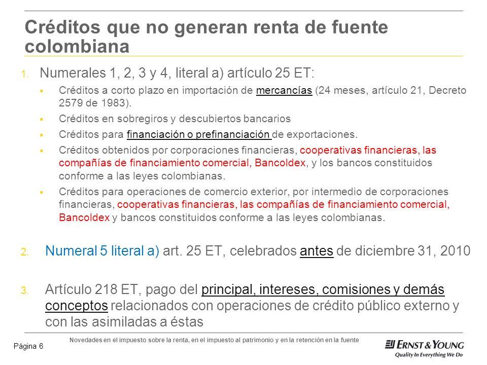 Novedades en el impuesto sobre la renta, en el impuesto al patrimonio y en la retención en la fuente Página 5 Tarifa de retención aplicable a contrato