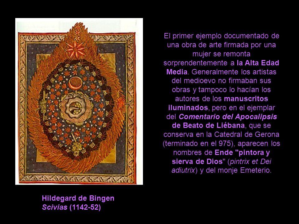 El primer ejemplo documentado de una obra de arte firmada por una mujer se remonta sorprendentemente a la Alta Edad Media. Generalmente los artistas d