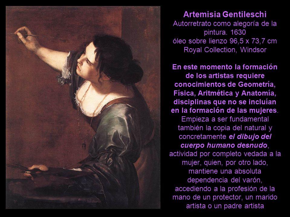 Artemisia Gentileschi Autorretrato como alegoría de la pintura. 1630 óleo sobre lienzo 96,5 x 73,7 cm Royal Collection, Windsor En este momento la for