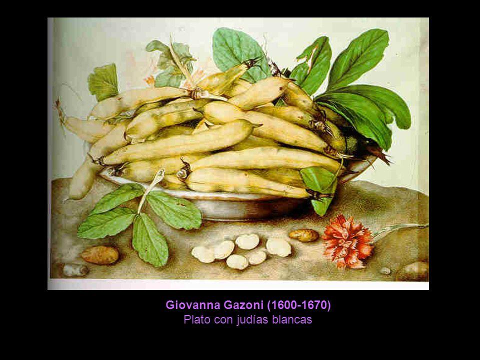Giovanna Gazoni (1600-1670) Plato con judías blancas