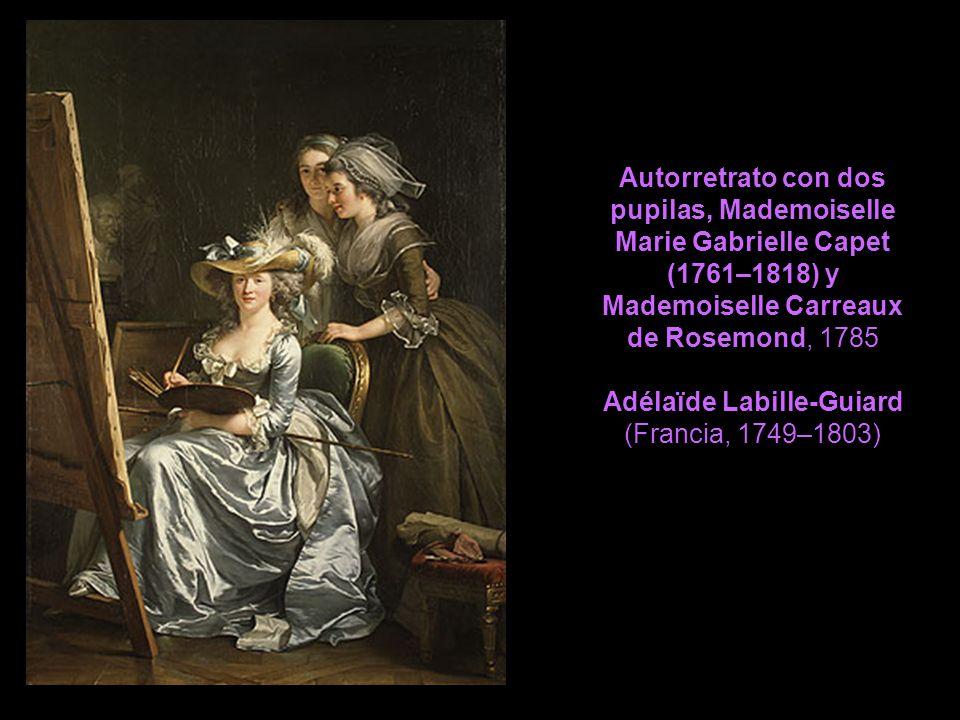 Autorretrato con dos pupilas, Mademoiselle Marie Gabrielle Capet (1761–1818) y Mademoiselle Carreaux de Rosemond, 1785 Adélaïde Labille-Guiard (Franci