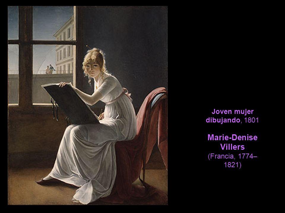 Joven mujer dibujando, 1801 Marie-Denise Villers (Francia, 1774– 1821)