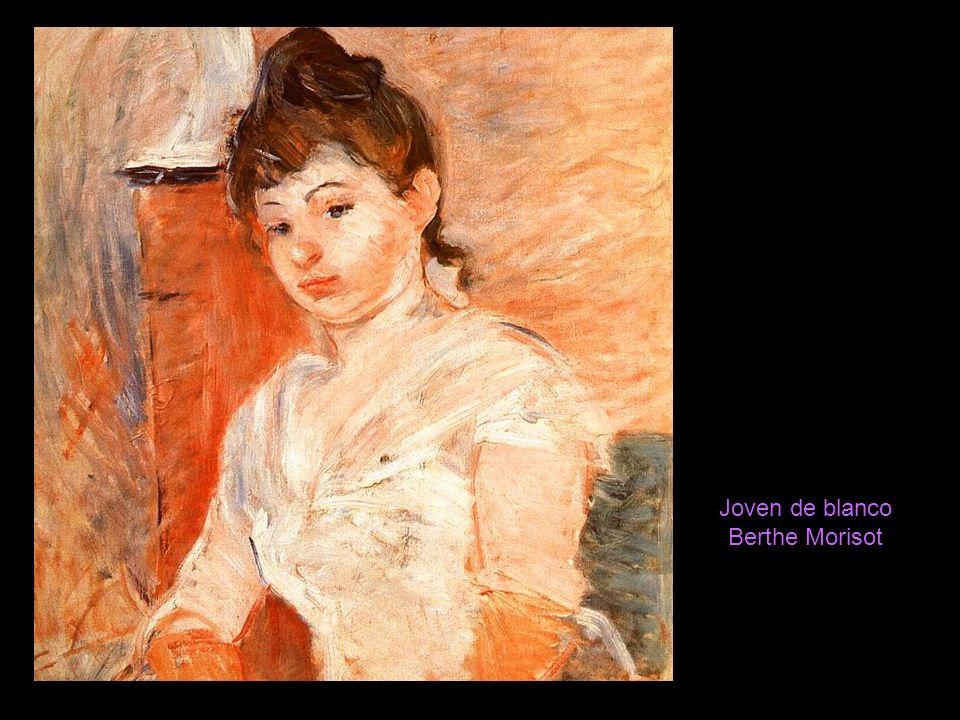 Joven de blanco Berthe Morisot