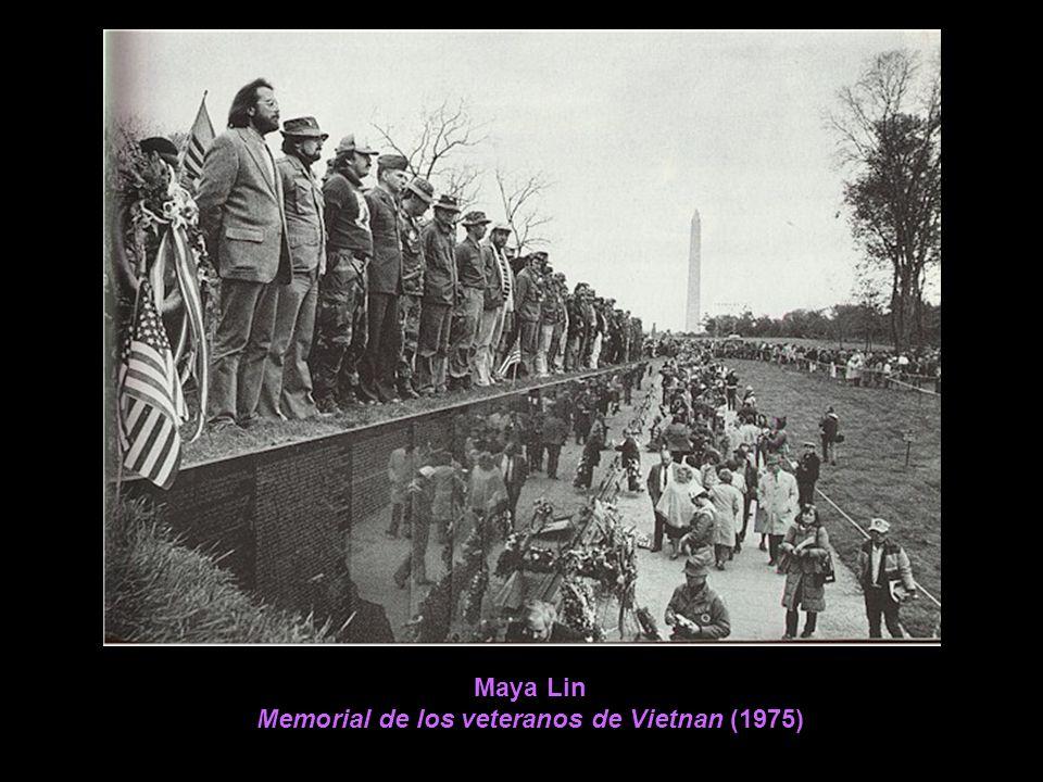 Maya Lin Memorial de los veteranos de Vietnan (1975)