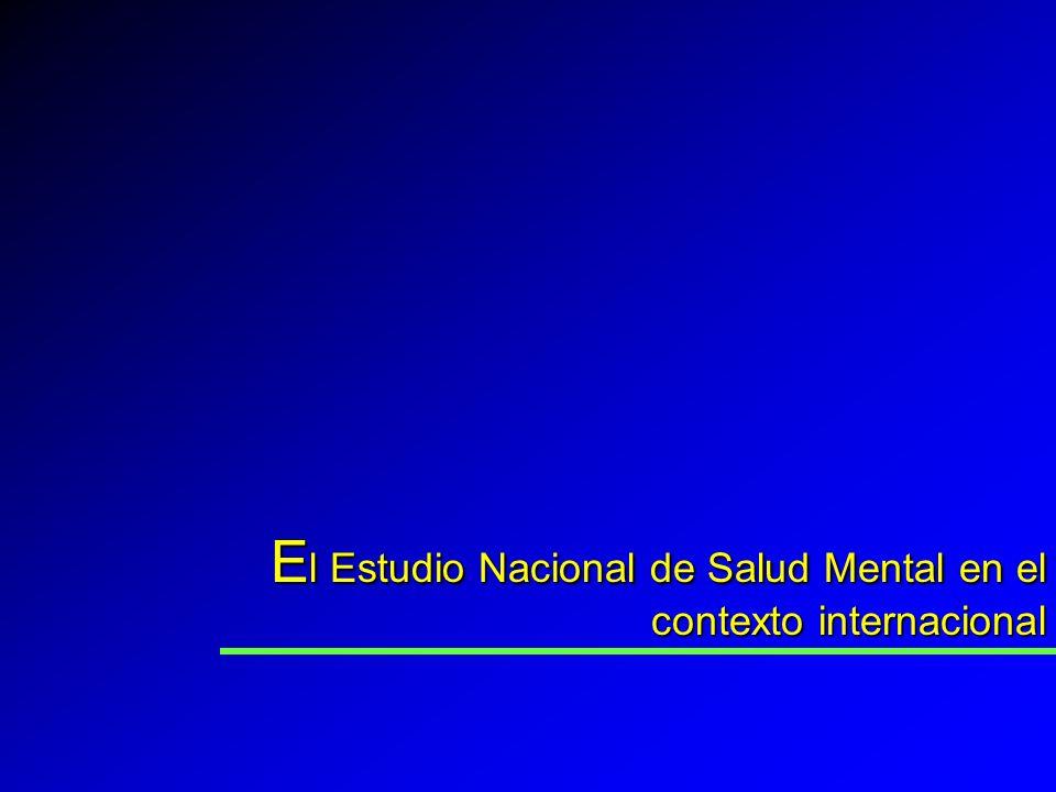 E l Estudio Nacional de Salud Mental en el contexto internacional