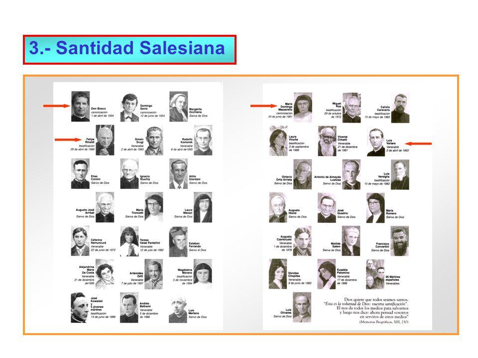 4.- Descripción de la Familia Salesiana ( I ) El carisma y la misión (igual para todos) dan unidad a la Familia Salesiana.
