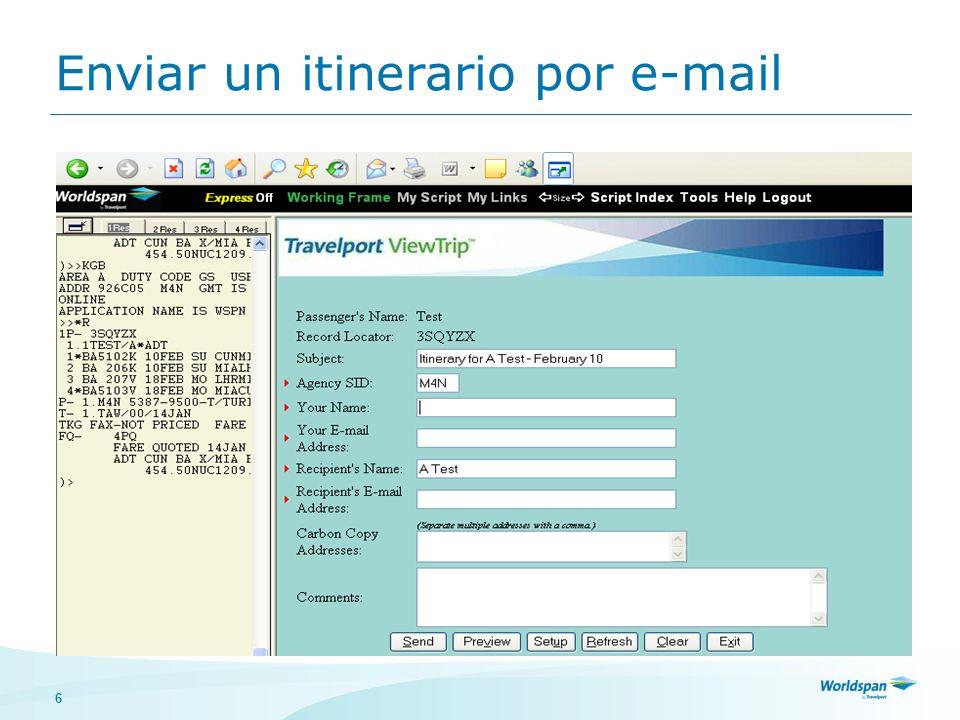 6 Enviar un itinerario por e-mail