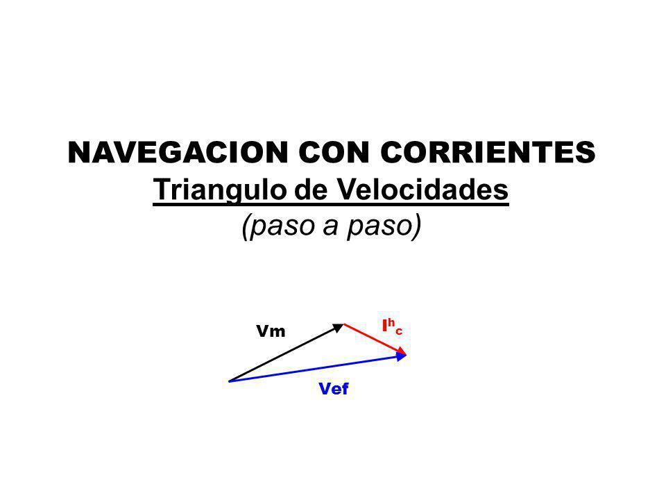 Vm IhcIhc Vef NAVEGACION CON CORRIENTES Triangulo de Velocidades (paso a paso)