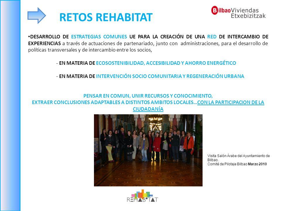 DESARROLLO DE ESTRATEGIAS COMUNES UE PARA LA CREACIÓN DE UNA RED DE INTERCAMBIO DE EXPERIENCIAS a través de actuaciones de partenariado, junto con adm