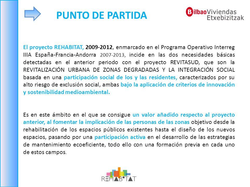 El proyecto REHABITAT, 2009-2012, enmarcado en el Programa Operativo Interreg IIIA España-Francia-Andorra 2007-2013, incide en las dos necesidades bás