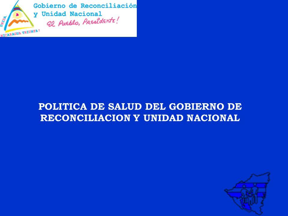 POLITICA DE SALUD DEL GOBIERNO DE RECONCILIACION Y UNIDAD NACIONAL