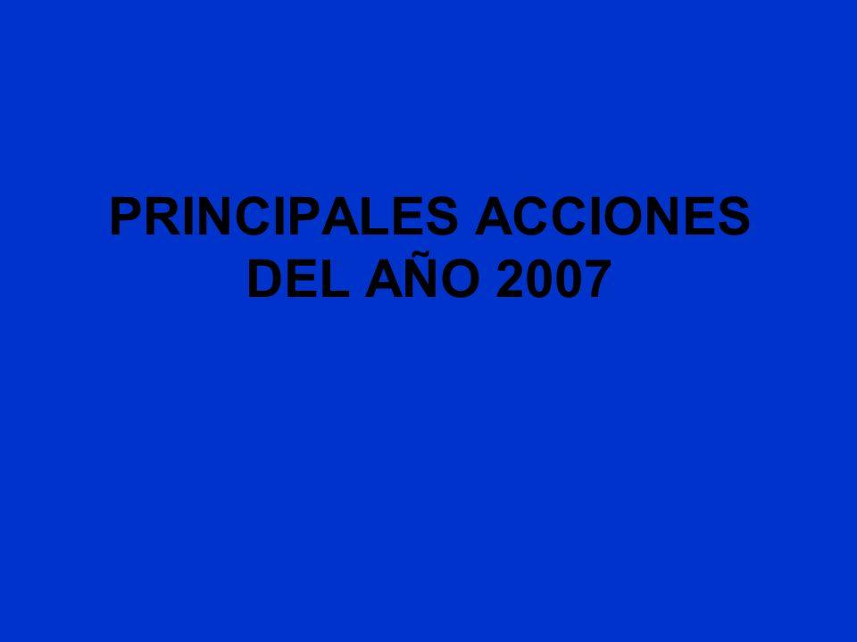 PRINCIPALES ACCIONES DEL AÑO 2007