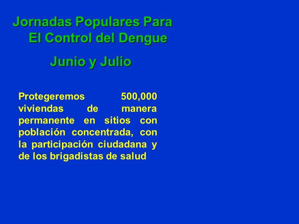Protegeremos 500,000 viviendas de manera permanente en sitios con población concentrada, con la participación ciudadana y de los brigadistas de salud