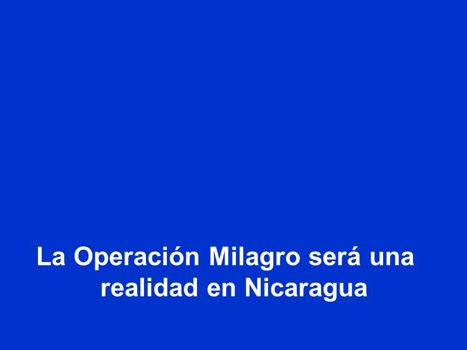 La Operación Milagro será una realidad en Nicaragua