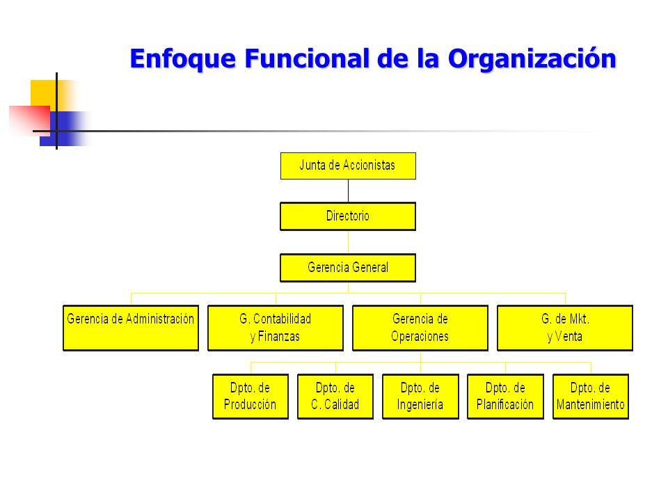 Enfoque Funcional de la Organización