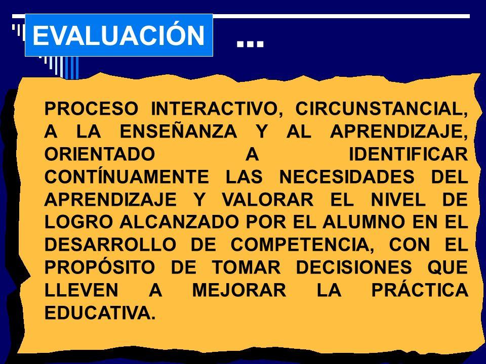 CLASIFICACIÓN DE T.E I. DE EVALUACIÓN 1.
