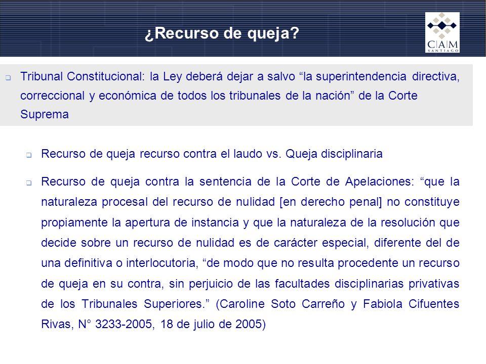 ¿Recurso de queja? Tribunal Constitucional: la Ley deberá dejar a salvo la superintendencia directiva, correccional y económica de todos los tribunale