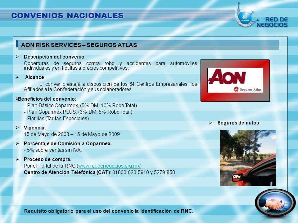 Descripción del convenio Coberturas de seguros contra robo y accidentes para automóviles individuales y en flotillas a precios competitivos. Alcance E
