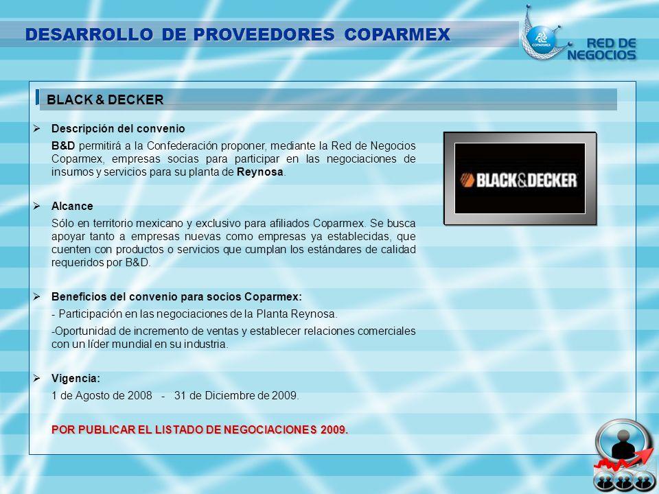 Descripción del convenio B&D permitirá a la Confederación proponer, mediante la Red de Negocios Coparmex, empresas socias para participar en las negoc