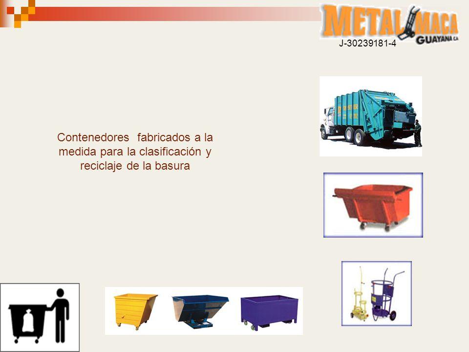 Contenedores fabricados a la medida para la clasificación y reciclaje de la basura