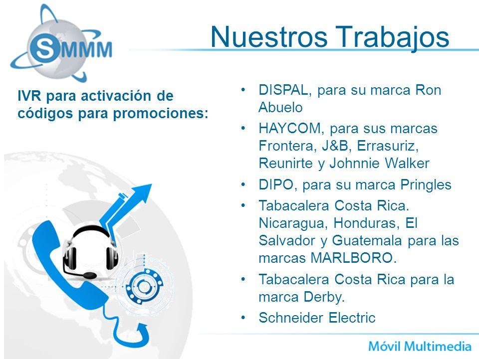Nuestros Trabajos DISPAL, para su marca Ron Abuelo HAYCOM, para sus marcas Frontera, J&B, Errasuriz, Reunirte y Johnnie Walker DIPO, para su marca Pri
