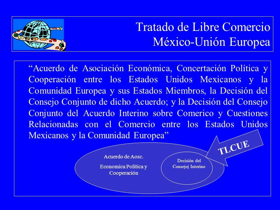 Tratado de Libre Comercio México-Unión Europea Acuerdo de Asociación Económica, Concertación Política y Cooperación entre los Estados Unidos Mexicanos
