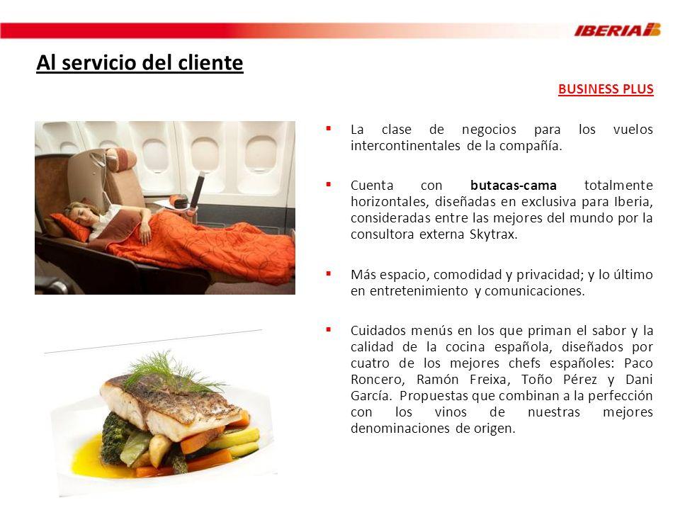 Al servicio del cliente (II) Estrenada en octubre de 2010 Disponible en los vuelos a El Cairo, Lagos, Malabo, Moscú y Tel Aviv Butacas más anchas (55 cm.) y espaciosas Distancia entre filas de 1,27 m.