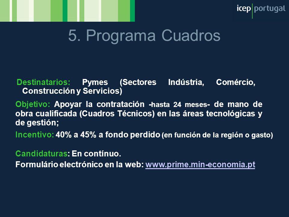 Destinatarios: Pymes (Sectores Indústria, Comércio, Construcción y Servicios) Objetivo: Apoyar la contratación - hasta 24 meses - de mano de obra cual