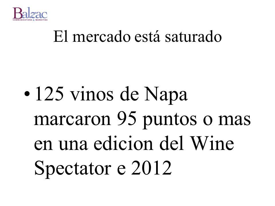 El mercado está saturado 125 vinos de Napa marcaron 95 puntos o mas en una edicion del Wine Spectator e 2012