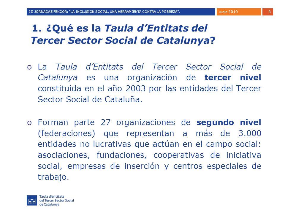 4 ¿Qué es la Taula dEntitats del Tercer Sector Social de Catalunya.