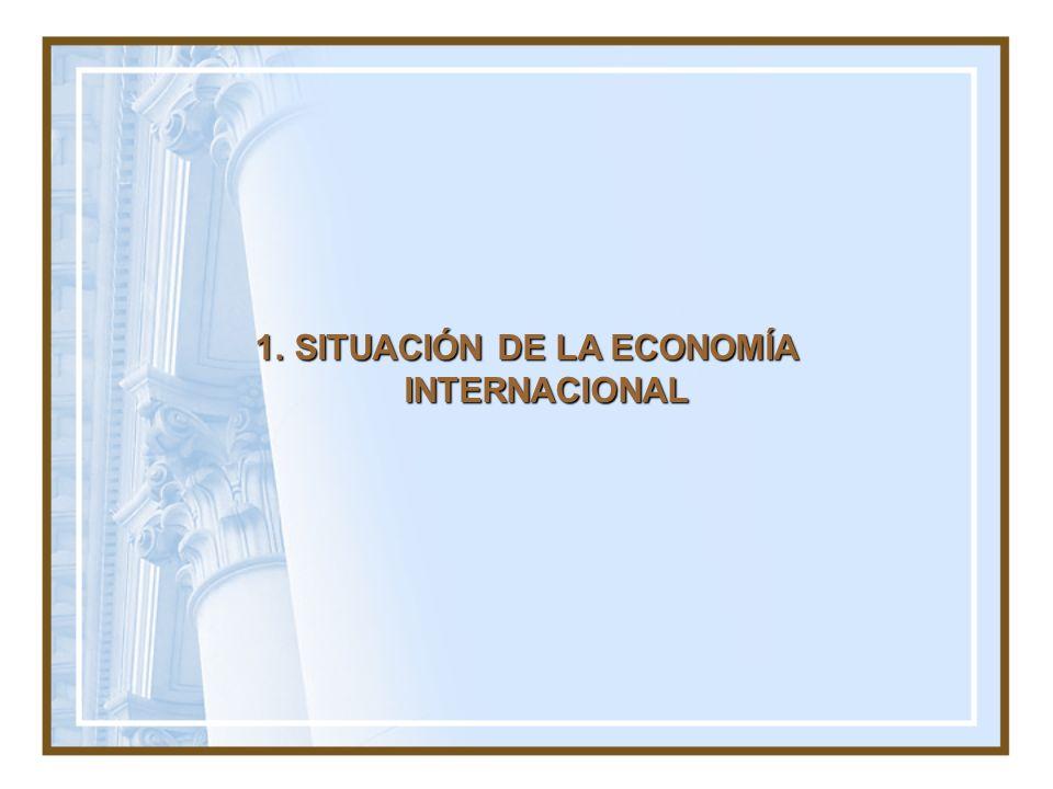 1.SITUACIÓN DE LA ECONOMÍA INTERNACIONAL