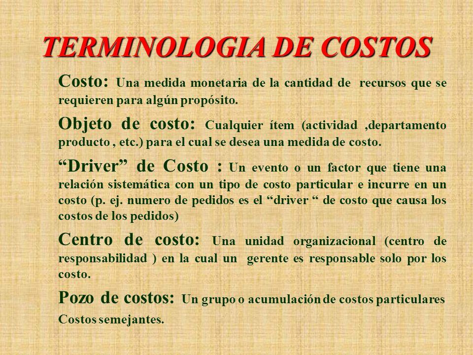 IMPORTANCIA DE LOS COSTOS