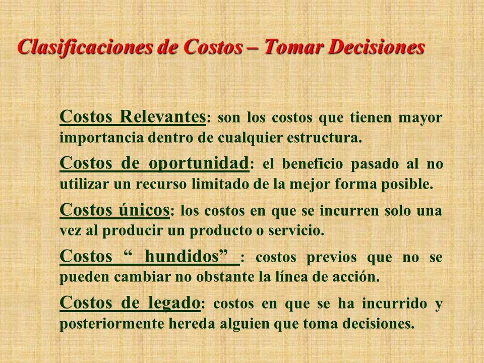 Clasificaciones de Costo - El comportamiento de los cotos Costos variables : los que varían de acuerdo con cambios en el nivel de las actividades (p.