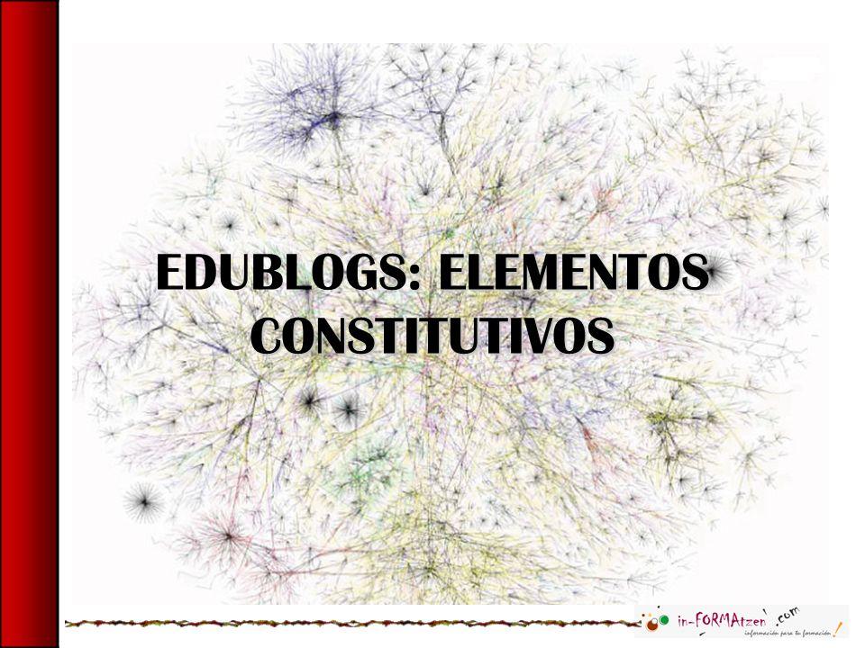 : ELEMENTOS CONSTITUTIVOS EDUBLOGS: ELEMENTOS CONSTITUTIVOS
