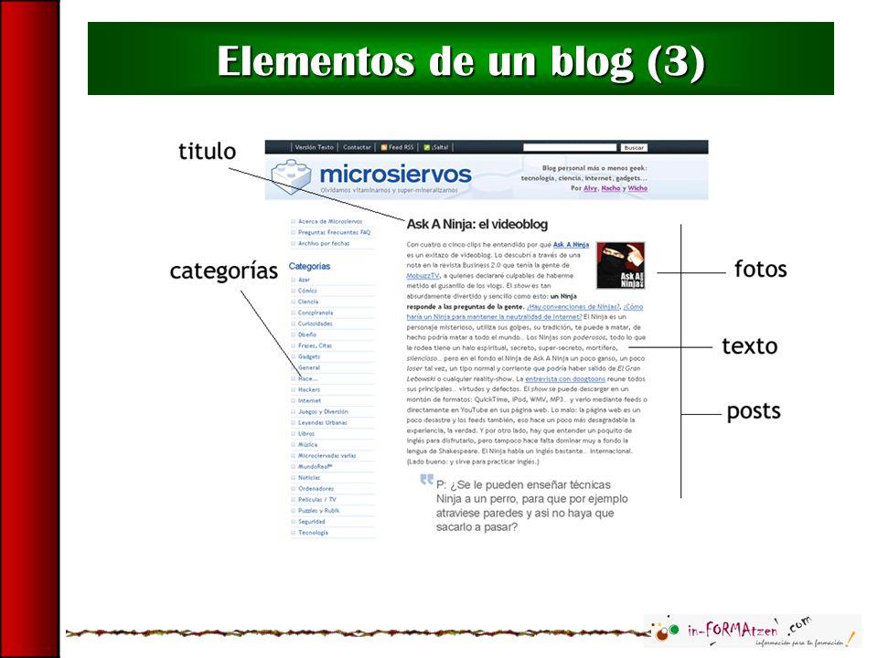 Elementos de un blog (3)