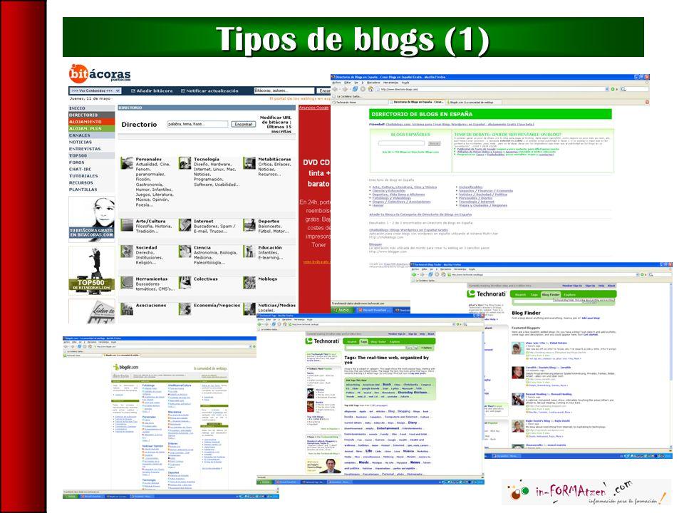 Buscadores de blogs: Technorati Technorati solo busca información dentro de blogs.