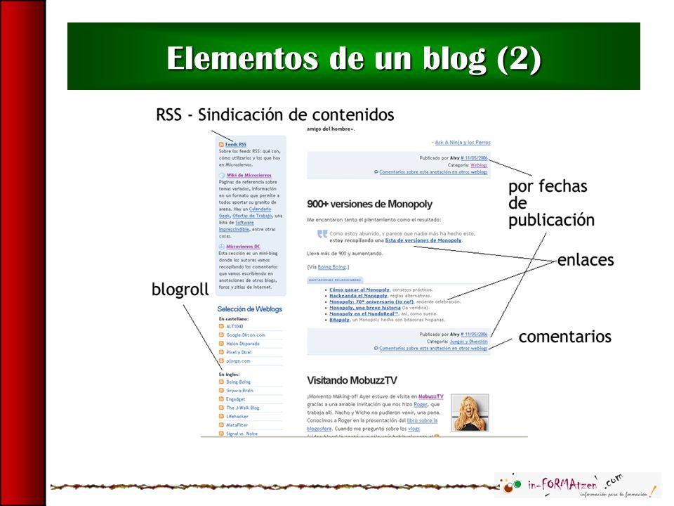 Elementos de un blog (2)