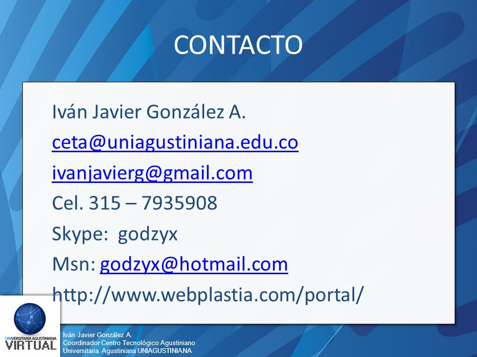 Iván Javier González A.