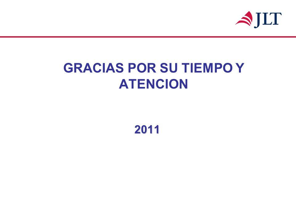 GRACIAS POR SU TIEMPO Y ATENCION 2011