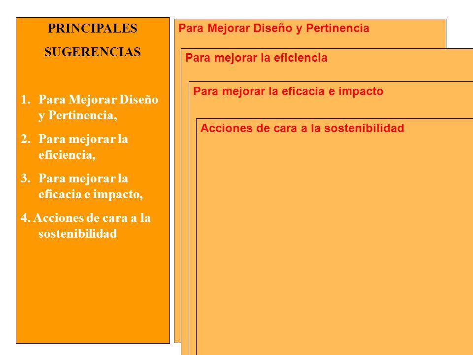 MANUAL FORMULACIÓN DE PROYECTOS PARA LA COOPERACIÓN INTERNACIONAL Para Mejorar Diseño y Pertinencia PRINCIPALES SUGERENCIAS 1.Para Mejorar Diseño y Pe