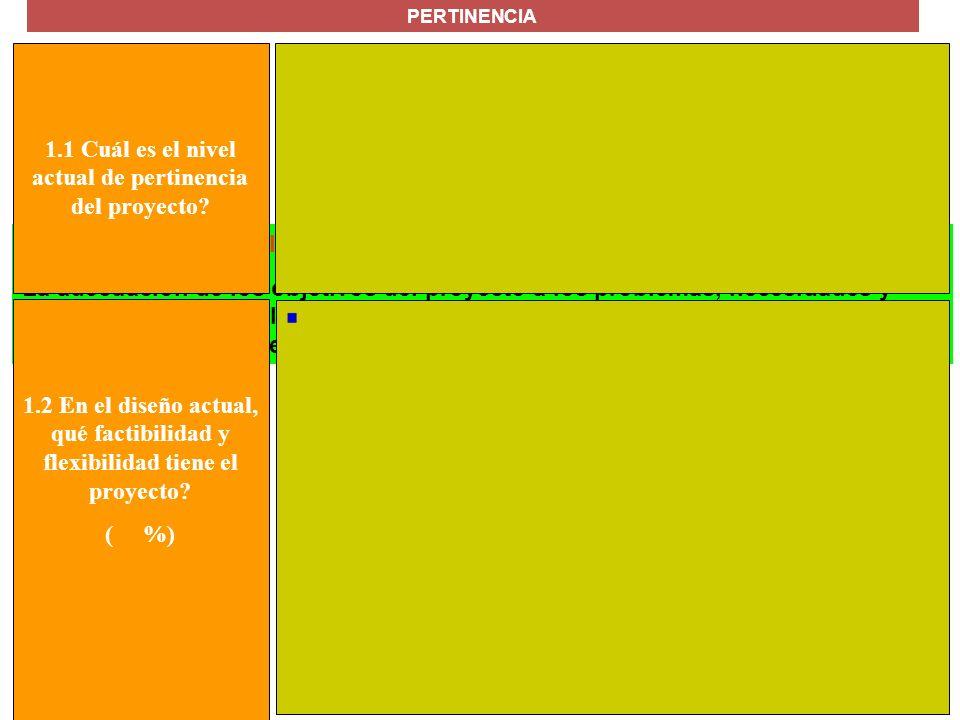 MANUAL FORMULACIÓN DE PROYECTOS PARA LA COOPERACIÓN INTERNACIONAL Calidad del diseño del proyecto La adecuación de los objetivos del proyecto a los pr