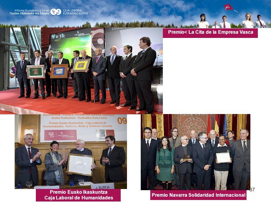 37 Premio Navarra Solidaridad Internacional Premio Eusko Ikaskuntza Caja Laboral de Humanidades Premio< La Cita de la Empresa Vasca