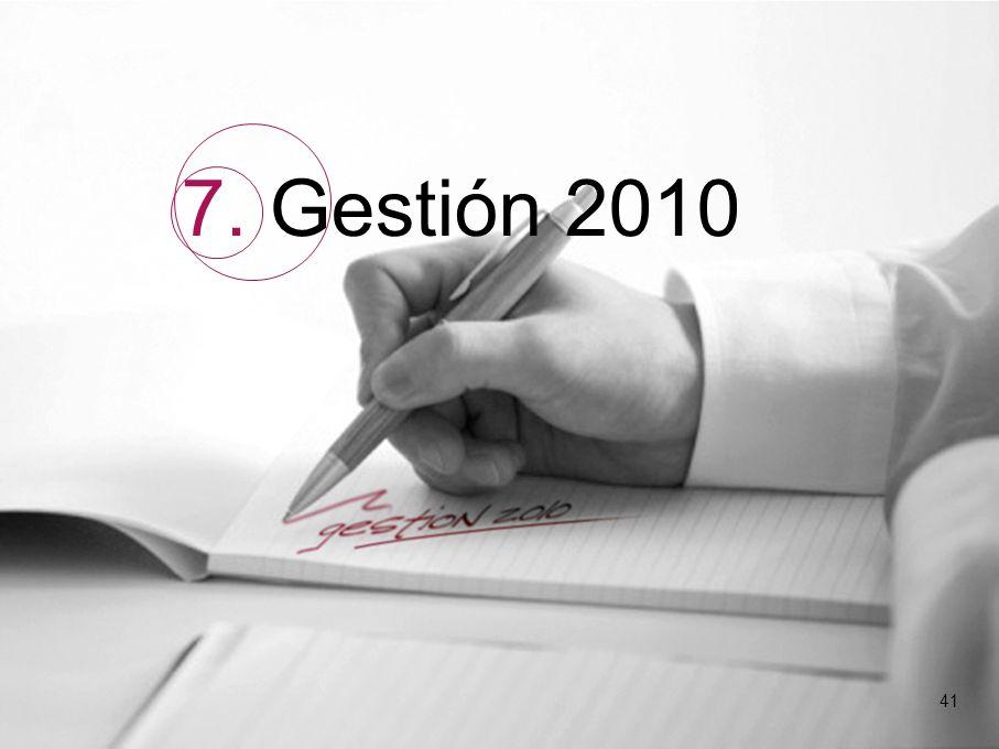 41 7. Gestión 2010 41