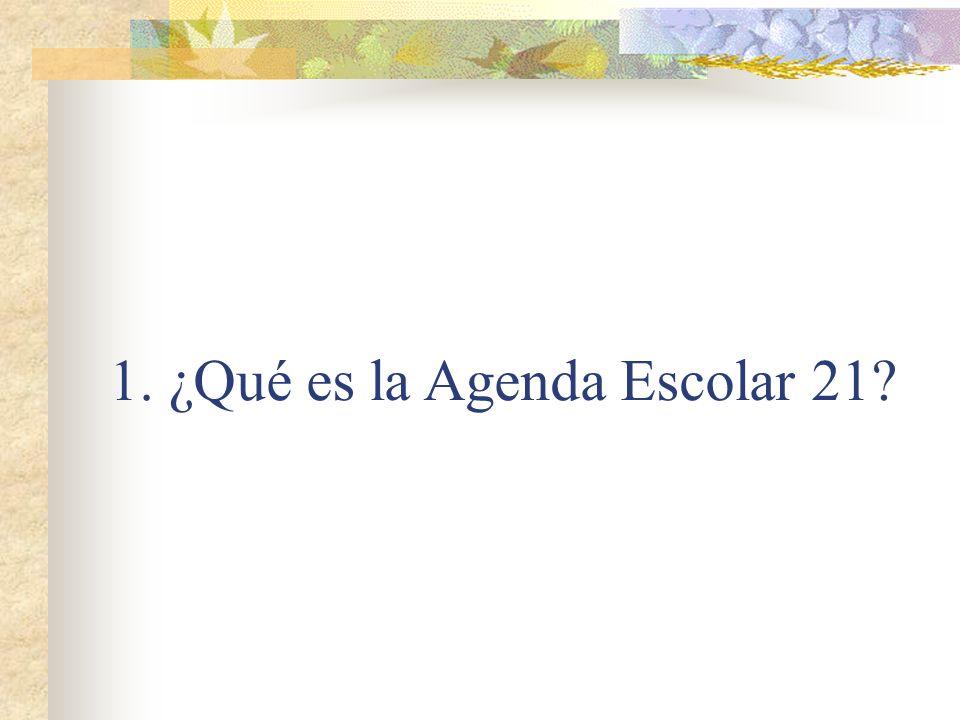 1. ¿Qué es la Agenda Escolar 21?