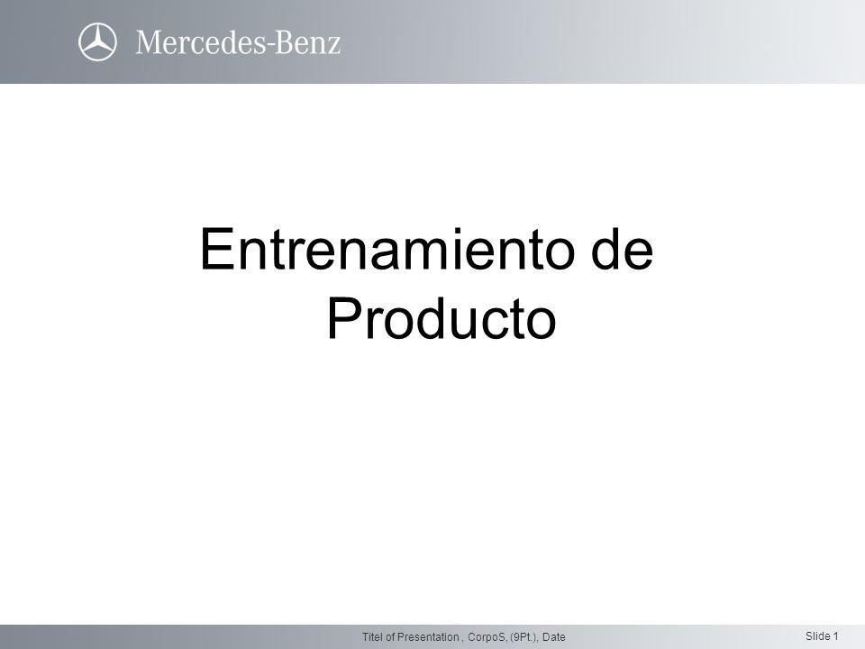 Slide 1 Titel of Presentation, CorpoS, (9Pt.), Date Entrenamiento de Producto