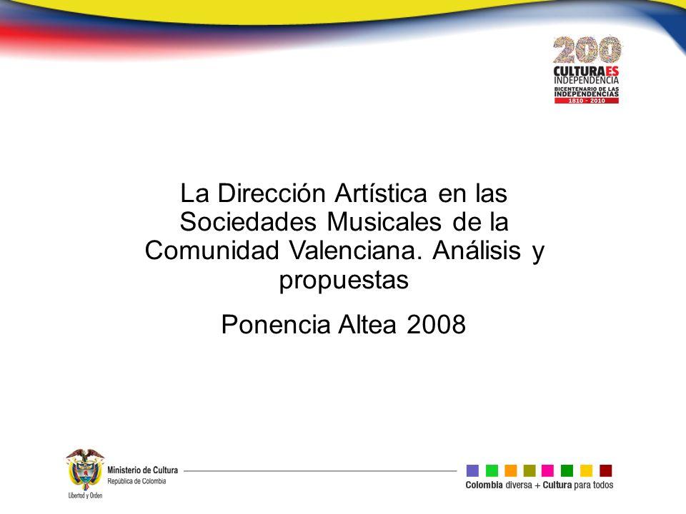La Dirección Artística en las Sociedades Musicales de la Comunidad Valenciana.